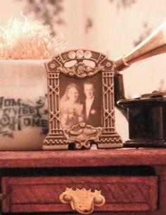 Miniature Portrait  1930's Wedding by LDelaney on Etsy, $5.00