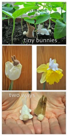 TINY BUNNIES Two Ways to Make Tiny Felt Toys