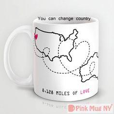 Personalized mug cup designed PinkMugNY  Long by PinkMugNY on Etsy, $13.95