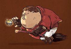 Растолстевший Гарри Поттер гоняется только за гамбургерами