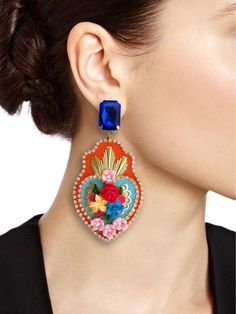 Diy Necklace, Diy Earrings, Polymer Clay Earrings, Crochet Earrings, Jewelry Crafts, Jewelry Art, Handmade Jewelry, Jewelry Design, Embroidery Jewelry