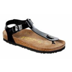 #deal Birkenstock Women's Kairo Birko Flor T-Strap Sandal,Black Patent,39 M EU