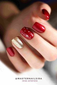 32 Pretty Santa Christmas Colored Nail Arts For Holiday Part.- 32 Pretty Santa Christmas Colored Nail Arts For Holiday Parties – TopBestLife - Cute Christmas Nails, Xmas Nails, Christmas Nail Art Designs, Winter Nail Designs, Holiday Nails, Santa Christmas, Valentine Nail Designs, Christmas Design, Red Acrylic Nails