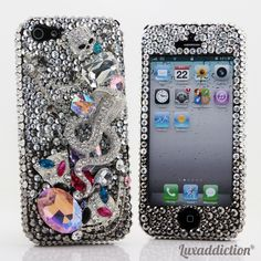 """Style 720 This Bling case can be handcrafted for iPhone 4/4S, 5, 5S, all Samsung Galaxy models (S3, S4, Note 2). The current price is $79.95 (Enter discount code: """"facebook102"""" for an additional 10% off during checkout)"""