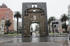 Plaza Independencia, desde la Ciudadela. Sin el Palacio Salvo