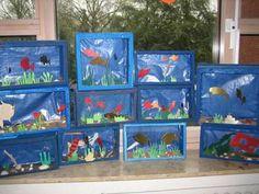 aquarium aus einem schuhkarton make your own aquarium ideas for school pinterest aquarium. Black Bedroom Furniture Sets. Home Design Ideas
