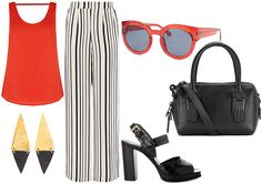 PALAZZO – STYLED OUTFIT  Perfect for PEAR & APPLE  Body Types  •  VISIT www.thestylistsstamp.com for fashion TIPS & STYLE advice.