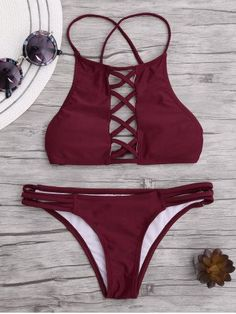 GET $50 NOW | Join RoseGal: Get YOUR $50 NOW!http://m.rosegal.com/bikinis/lace-up-criss-cross-padded-1161778.html?seid=9440045rg1161778