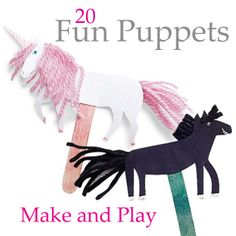 Puppets foster creativity and storytelling. Plus, an hour of making can yield hours of playing... here are 20 fabulous puppets to make.