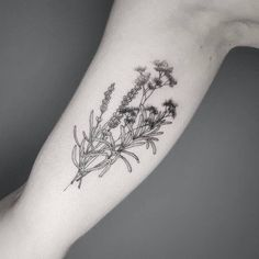 Gypsophila, lavender and rosemary for Sabine.