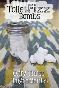 How to Make Homemade Toilet Fizz Bombs (Only Three Ingredients): This super easy recipe uses only 3 ingredients! It keeps your toilet refreshed and odor free.