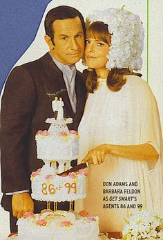 Agent 86 & Agent 99 got married on Get Smart in 1968