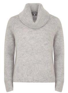 Silver Grey Crop Cowl Knit | New in | MintVelvet