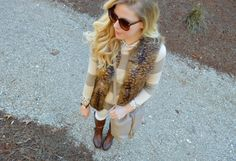 Fur Vest & Embellished Sweater - Click for outfit details