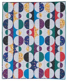 """Connecting Threads is offering a kit for the """"Baubles"""" pattern from Happy Stash Quilts utilizing Blast Off! Fabrics designed by Winthur Sempliner. Click over to http://www.connectingthreads.com/…/Baubles_Throw_Quilt_Kit_…   to order."""