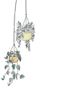 🌱Hanging Plants Digital Print🌿 Perfect addition to spice up any home🍃 Prints up to size. Message us if you need larger.Please visit our store and click 'FAVOURITE' to keep updated on new prints!*Frame & mount not included Iphone Background Wallpaper, Simple Iphone Wallpaper, Abstract Line Art, Bullet Journal Art, Plant Drawing, Plant Art, Minimalist Art, Hanging Plants, Doodle Art