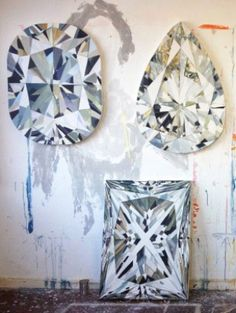 These diamond paintings by Kurt Pio are the coolest things I've ever seen.