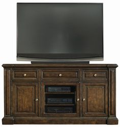 Marquis Entertainment Console with Three Doors & Three Drawers by Bernhardt - Belfort Furniture - TV or Computer Unit Washington DC, Northern Virginia (NoVA), Maryland, and Dulles, VA