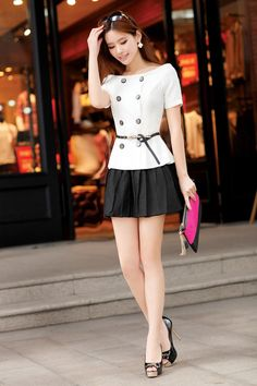 Cute outfit; love it, (not sure about the belt?), but I love it.