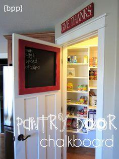 Pantry Door Chalkboard