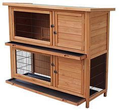 Ktaxon 48 2 Tiers Waterproof Chicken Coop Rabbit Hutch Wood House Pet Cage for Small Animals Shop for All Canine Kennels in Canine Kennels. Buy products such as Happily Canine Uptown Welded Wire Canine Kennel at Walmart and save. Rabbit Cages, Bunny Cages, Dog Cages, House Rabbit, Pet Cage, Pet Rabbit, Hen House, Ferret Cage, Portable Chicken Coop