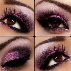 Pink glitter eyeshadow. YUSSSSS....