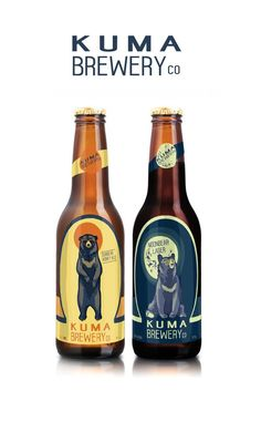 Kuma Brewery Sunbear Honey Ale and Moonbear Lager The Marketplace for Adults with Taste LiquorListcom Craft Beer Brands, Craft Beer Labels, Wine Labels, Beer Packaging, Beverage Packaging, Design Packaging, Brewery Design, Beer Label Design, Beer Brewery