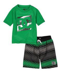 98382573b5 DC Green   Black Rashguard   Board Shorts - Infant   Toddler