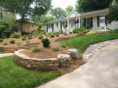 stylish front yard  landscaping design and home gardens design