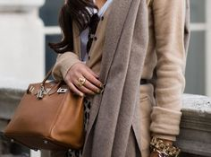 Taupe taupe taupe. It's classic. this looks like a max mara outfit.