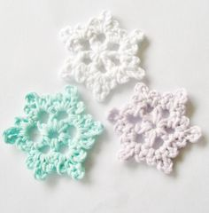 Easy Crochet Snowflake by HairTieGirl | Crochet Pattern - via @Craftsy--would be great as ornaments