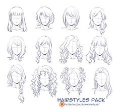 Facebook Tumblr Art Shop Her Mentor Comics Commission Info Support Me On Patreon Here Is Hairstyles Packprectic Hair Sketch How To Draw Hair Hair Art