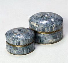 Interlude Home Gianna Bone Boxes - Set of 2