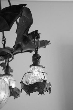 Bat lighting for batty people / gothic home decor