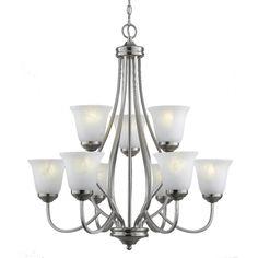 Lowes. Bel Air Lighting9-Light Chrome Chandelier $299