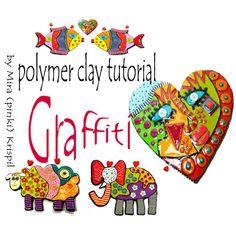 Polymer Clay PDF tutorial  The Graffiti Technique by MIRAKRIS, $20.00