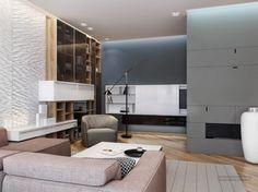 Modern otthon, érdekes és stílusos ötletek 125nm-en