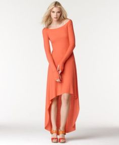 Off the shoulder Nettie Maxi dress with high low hem
