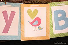 Create Free Printable Banners | Bird Themed Birthday Party with FREE Printables