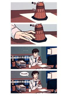 DI Alec Hardy + tiny dalek = perfect