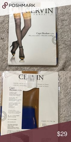 457795fc3 CERVIN Paris 15 Den 1950 s RHT Garter Stockings NEW WITH TAGS CERVIN -  Paris  Capri