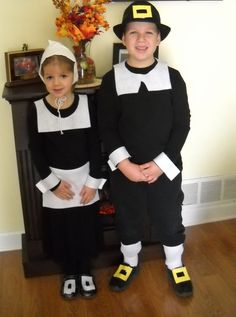 what me and john will dress our kids like Thanksgiving Preschool, Family Thanksgiving, Thanksgiving Outfit, Pilgrim Outfit, Pilgrim Costume, Indian Costumes, Boy Costumes, Period Costumes, Costume Ideas
