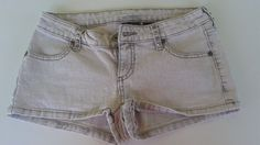Shorts City Streets  Jeans Gray Embellished  SZ 0 Cute for Summer #CityStreets #Denim