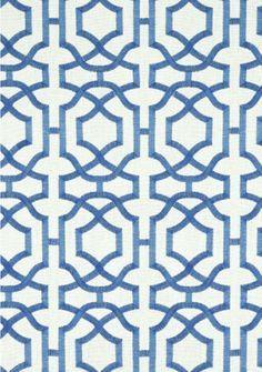 blue white trellis fabric - Google Search