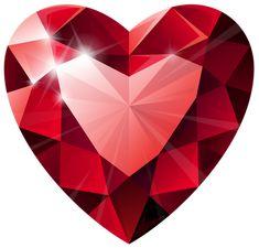 Diamond Heart Transparent PNG Clip Art Image