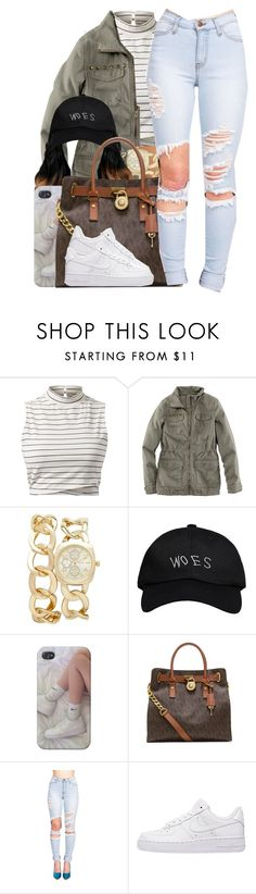 """Tory Lanez / Say It"" by nasiaamiraaa ❤ liked on Polyvore featuring H&M, Forever New, October's Very Own, MICHAEL Michael Kors, NIKE and NanaOutfits"