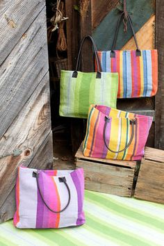 Rugby Stripe Charcoal Indoor Outdoor Tote Bag Bolsos Pinterest And