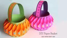 How To Make Paper Basket which is also a great Easter Basket Idea. Making paper baskets is a fun and easy paper craft that even kids enjoy making. Paper Basket Diy, Basket Crafts, Diy Paper, Homemade Easter Baskets, Paper Bunny, Easy Easter Crafts, Paper Crafts For Kids, Origami Easy, Basket Ideas