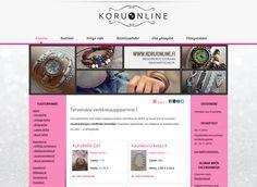Koruonline.fi verkkokauppa myy trendikkäitä koruja & kelloja. Verkkokauppa toteutettiin Kotisivukoneen Avaimet käteen -palvelun avulla.