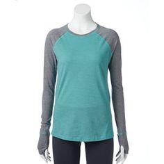 Tek Gear® Striped Raglan Workout Tee - Women's
